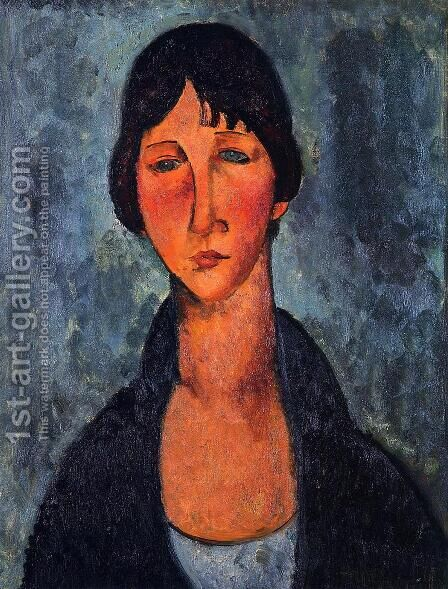 The Blue Blouse by Amedeo Modigliani - Reproduction Oil Painting