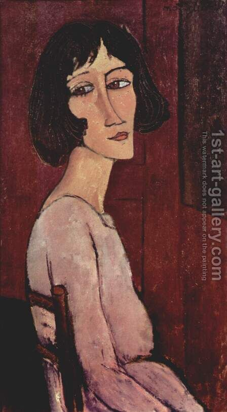 Portrait of Marguerite by Amedeo Modigliani - Reproduction Oil Painting