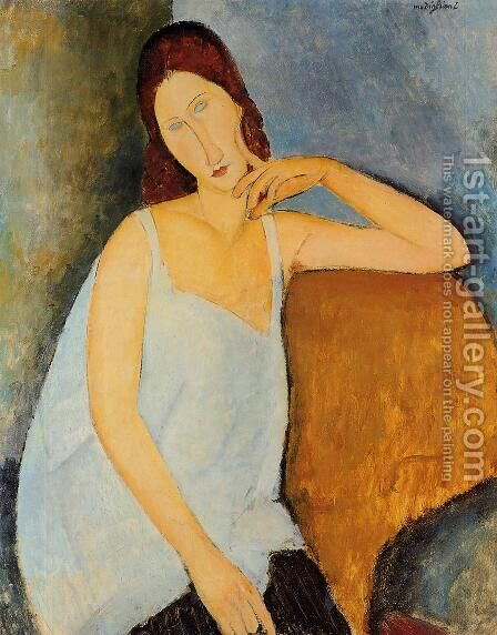 Portrait of Jeanne Hebuterne II 2 by Amedeo Modigliani - Reproduction Oil Painting