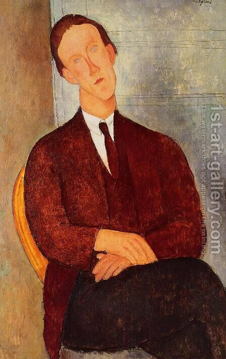 Portrait of Morgan Russell by Amedeo Modigliani - Reproduction Oil Painting