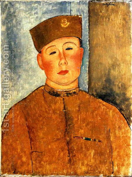 The Zouave 2 by Amedeo Modigliani - Reproduction Oil Painting