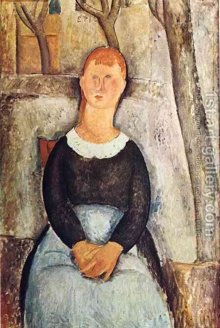 The Pretty Vegetable Vendor by Amedeo Modigliani - Reproduction Oil Painting
