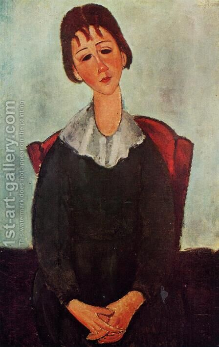 Girl on a Chair by Amedeo Modigliani - Reproduction Oil Painting