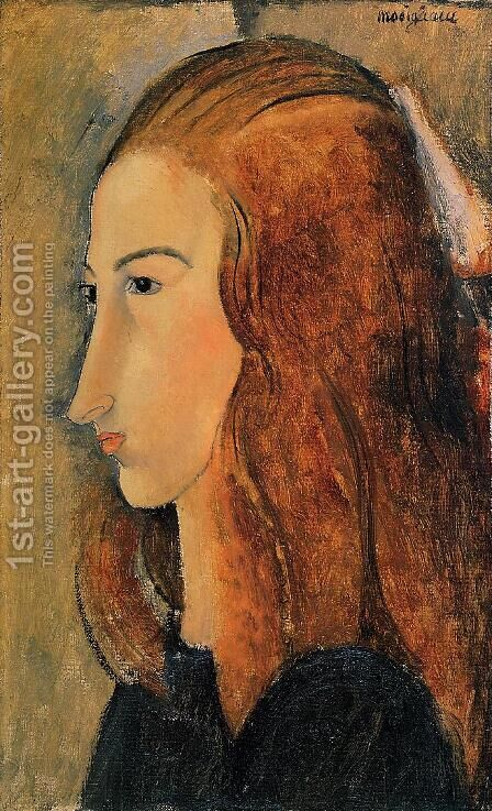 Portrait of Jeanne Hebutern by Amedeo Modigliani - Reproduction Oil Painting