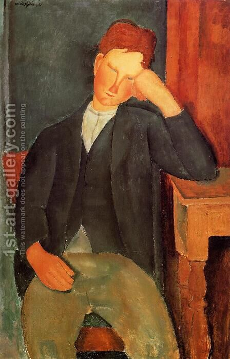 Young Peasant by Amedeo Modigliani - Reproduction Oil Painting