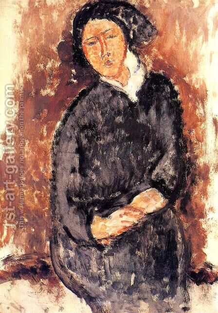 Seated Woman by Amedeo Modigliani - Reproduction Oil Painting