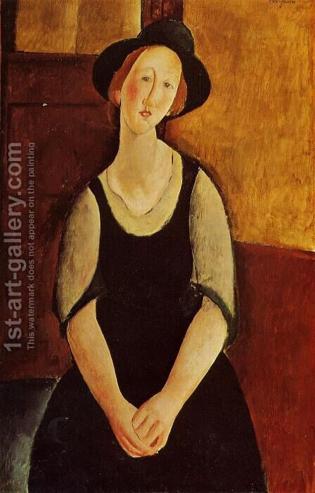 Thora Klinckowstrom by Amedeo Modigliani - Reproduction Oil Painting
