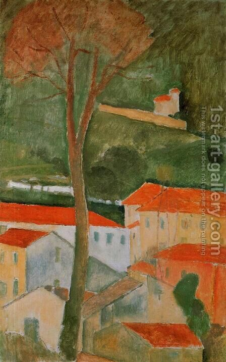 Landscape I by Amedeo Modigliani - Reproduction Oil Painting
