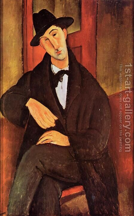 Portrait of Mario Varvogli by Amedeo Modigliani - Reproduction Oil Painting