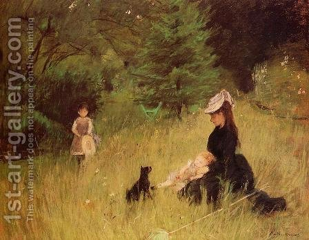 On the Lawn by Berthe Morisot - Reproduction Oil Painting