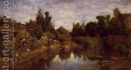The Water's Edge by Charles-Francois Daubigny - Reproduction Oil Painting