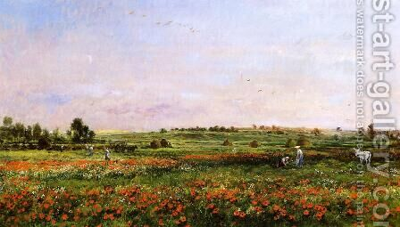 Fields in the Month of June by Charles-Francois Daubigny - Reproduction Oil Painting