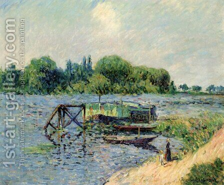 Laundry on the Seine at Herblay by Gustave Loiseau - Reproduction Oil Painting