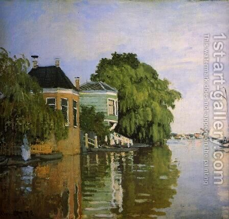 Zaandam (detail) by Claude Oscar Monet - Reproduction Oil Painting