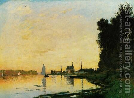 Argenteuil, Late Afternoon by Claude Oscar Monet - Reproduction Oil Painting