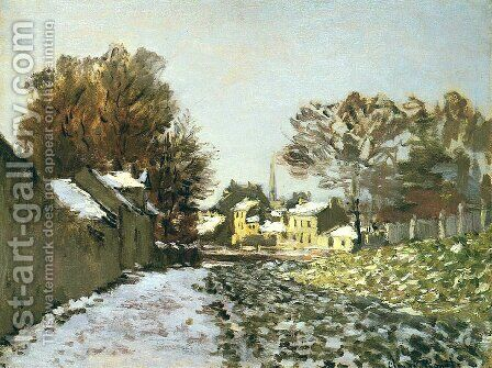 Snow at Argenteuil I by Claude Oscar Monet - Reproduction Oil Painting