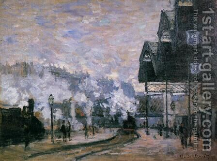 Saint-Lazare Station, the Western Region Goods Sheds by Claude Oscar Monet - Reproduction Oil Painting