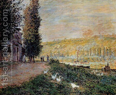 The Banks of the Seine, Lavacour by Claude Oscar Monet - Reproduction Oil Painting