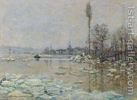 Breakup of the Ice, Lavacourt by Claude Oscar Monet - Reproduction Oil Painting