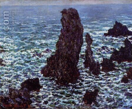 The 'Pyramids' of Port Coton, Belle-Ile-en-Mer by Claude Oscar Monet - Reproduction Oil Painting