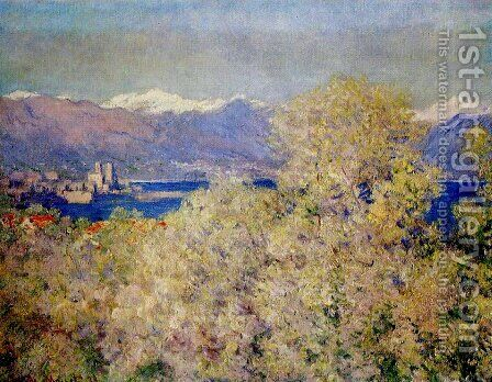 Antibes - View of the Salis Gardens 2 by Claude Oscar Monet - Reproduction Oil Painting