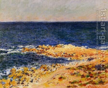 The 'Big  Blue' at Antibes by Claude Oscar Monet - Reproduction Oil Painting