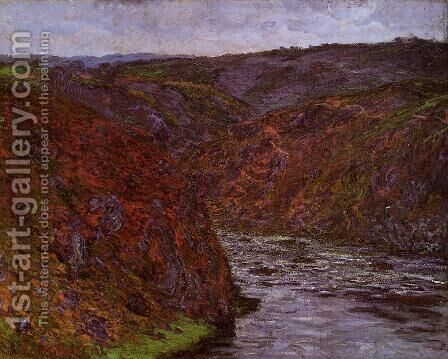 Valley of the Creuse, Grey Sky by Claude Oscar Monet - Reproduction Oil Painting