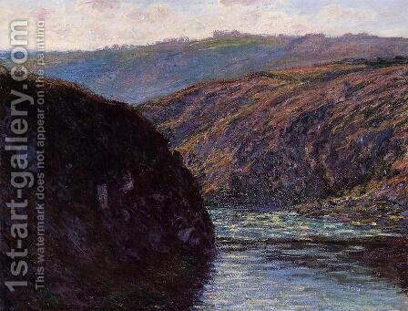 Valley of the Creuse, Afternoon Sunlight by Claude Oscar Monet - Reproduction Oil Painting