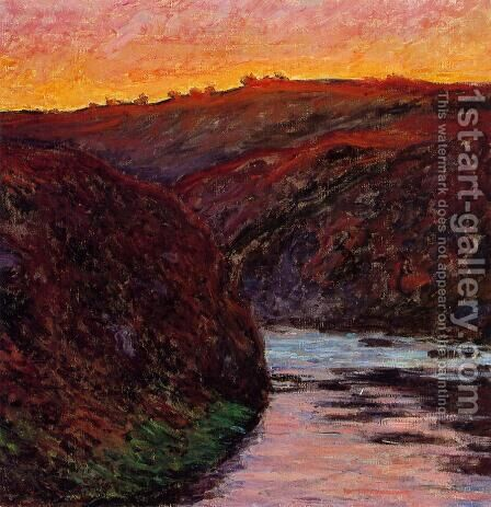 Valley of the Creuse, Sunset I by Claude Oscar Monet - Reproduction Oil Painting