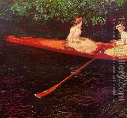 Boating on the River Epte 2 by Claude Oscar Monet - Reproduction Oil Painting