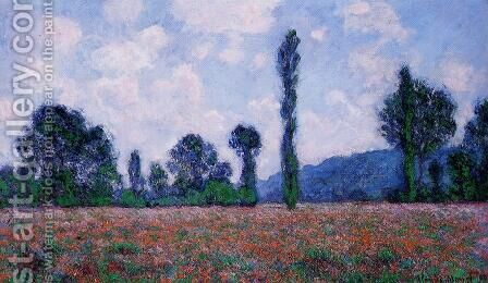Poppy Field, Giverny by Claude Oscar Monet - Reproduction Oil Painting