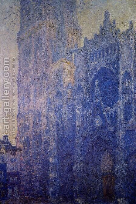 Rouen Cathedral, the Portal and the tour d'Albane, Morning Effect by Claude Oscar Monet - Reproduction Oil Painting