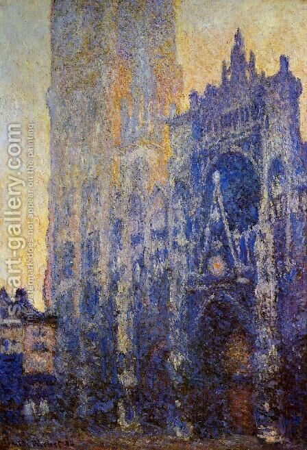 Rouen Cathedral, the Portal, Morning Effect by Claude Oscar Monet - Reproduction Oil Painting