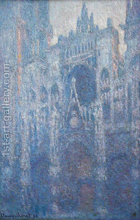 Rouen Cathedral, the Portal, Morning Fog by Claude Oscar Monet - Reproduction Oil Painting