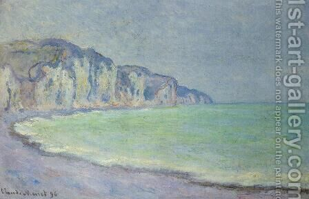 Cliff at Pourville by Claude Oscar Monet - Reproduction Oil Painting