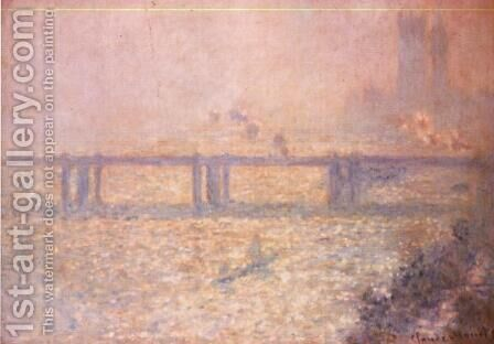 Charing Cross Bridge, London by Claude Oscar Monet - Reproduction Oil Painting