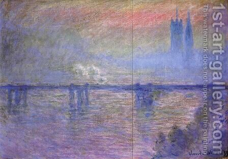 Charing Cross Bridge I by Claude Oscar Monet - Reproduction Oil Painting