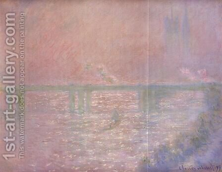 Charing Cross Bridge II by Claude Oscar Monet - Reproduction Oil Painting