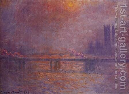 Charing Cross Bridge, The Thames by Claude Oscar Monet - Reproduction Oil Painting