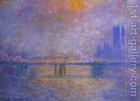 Charing Cross Bridge, The Thames I by Claude Oscar Monet - Reproduction Oil Painting