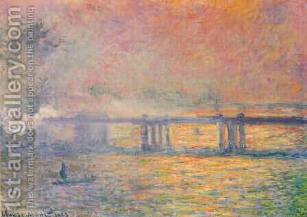 Charing Cross Bridge VII by Claude Oscar Monet - Reproduction Oil Painting