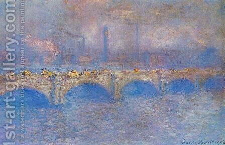 Waterloo Bridge, Sunlight Effect I by Claude Oscar Monet - Reproduction Oil Painting