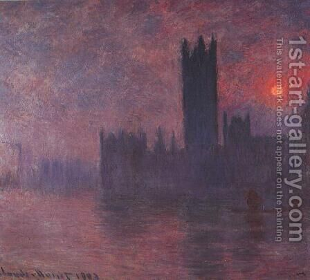 Houses of Parliament 2 by Claude Oscar Monet - Reproduction Oil Painting