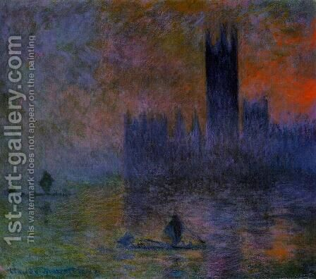 Houses of Parliament, Fog Effect by Claude Oscar Monet - Reproduction Oil Painting