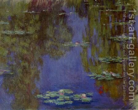 Water-Lilies IV by Claude Oscar Monet - Reproduction Oil Painting