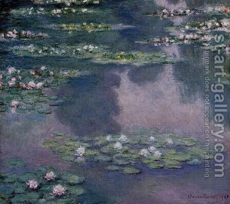Water-Lilies IX by Claude Oscar Monet - Reproduction Oil Painting