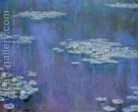 Water-Lilies XIII by Claude Oscar Monet - Reproduction Oil Painting