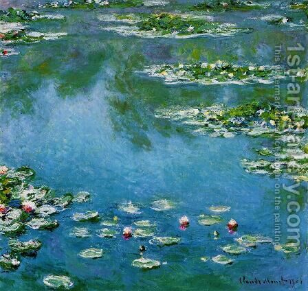 Water-Lilies XV by Claude Oscar Monet - Reproduction Oil Painting