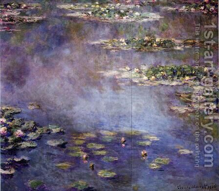 Water-Lilies 2 by Claude Oscar Monet - Reproduction Oil Painting