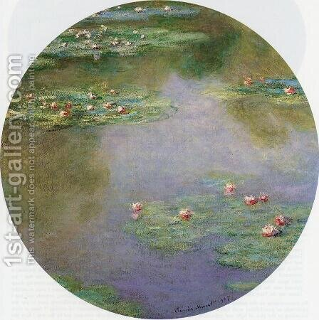 Water-Lilies 6 by Claude Oscar Monet - Reproduction Oil Painting